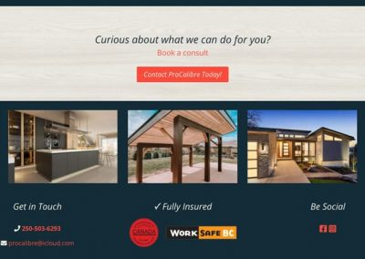 construction website design North Okanagan